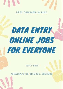 Real based Data entry job online available here