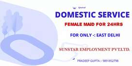 Female Maid For 24-hrs