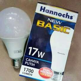 Lampu LED Hannochs Basic 17w Super Terang Garansi 1 Tahun Bohlam LED