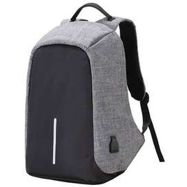 Anti Theft Back Pack/Bag with USB Charging Port Black & Gray