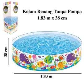 Kolam Renang Anak Tanpa Pompa Intex Ukuran 1.83 m x 38 cm Kolam Jumbo