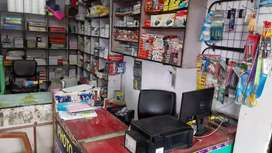 Running Stationery shop for sale at pithampur