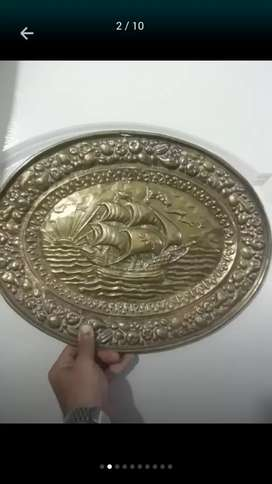 Brass plate home decoration Antique