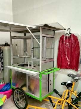 gerobak becak(sepeda)