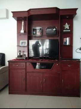 Cabinet with TV Unit, Shelves and Extension board