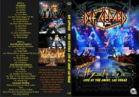 """MUSIC DVD DEF LEPPARD """"HYSTERIA"""" LIVE AT THE JOINT, LAS VEGAS"""