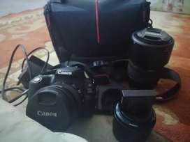 200d Canon camera and 3 lens with big