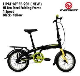Sepeda lipat everbest black yellow 1.500.000 ready