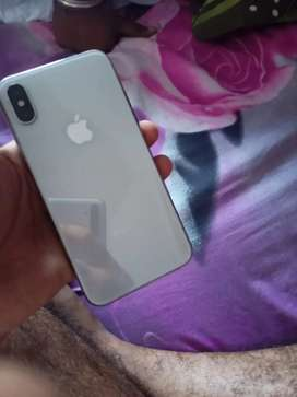Iphone X Silver 64gb in excellent condition