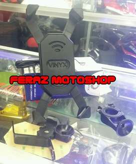 Holder Hp dan charger USB motor matic bebek batangan universal