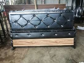 New King Size Iron Bed 6x6.5 Feet Heavy Quality Free Delivery COD
