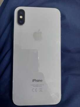 Iphone X silver colour 64 GB with charger face id not working