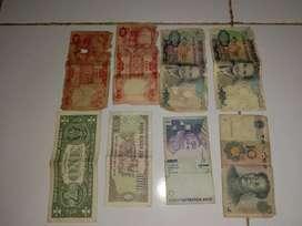 UANG TAHUN 1950+, DAN 4 LEMBAR UANG LUAR TAHUN 2000