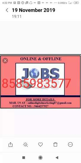 Good home based job data typing work