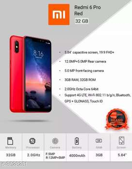 Redmi 6pro with free home delivery
