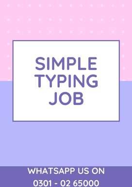 Apply with laptop home base work Simple typing online job