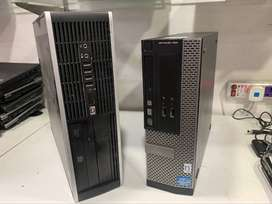 Branded HP Cpu Core i7 with 4GB Ram 500GB Hard Disk DVD Only 10500/-