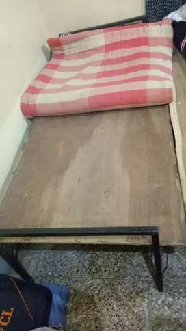 Single bed with cotton mattress for sale