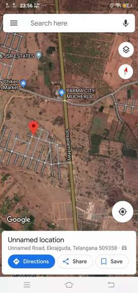 NH 765 facing layout at Mutcherla Jn spot registration