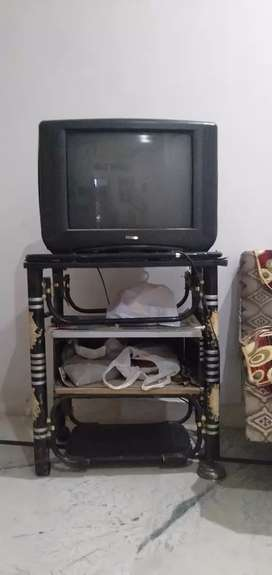 Weston colors tv 21 inch with tv stand free