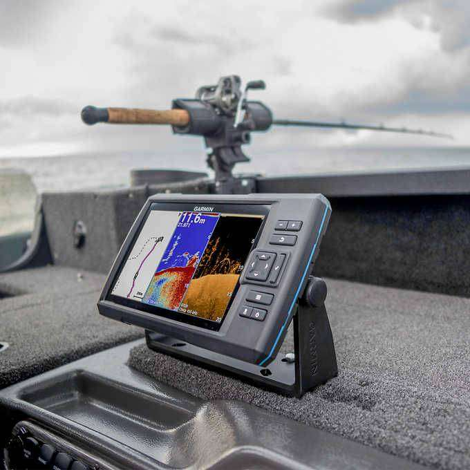 FISH FINDER GARMIN STRIKER PLUS 5CV COMPLETE WITH TRANSDUCER BRANDNEW 0