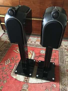 Bowers & Wilkins (B&W) PM-1 monitor speakers with stands
