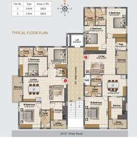 Luxury 3bhk flats at nagole Bandlaguda