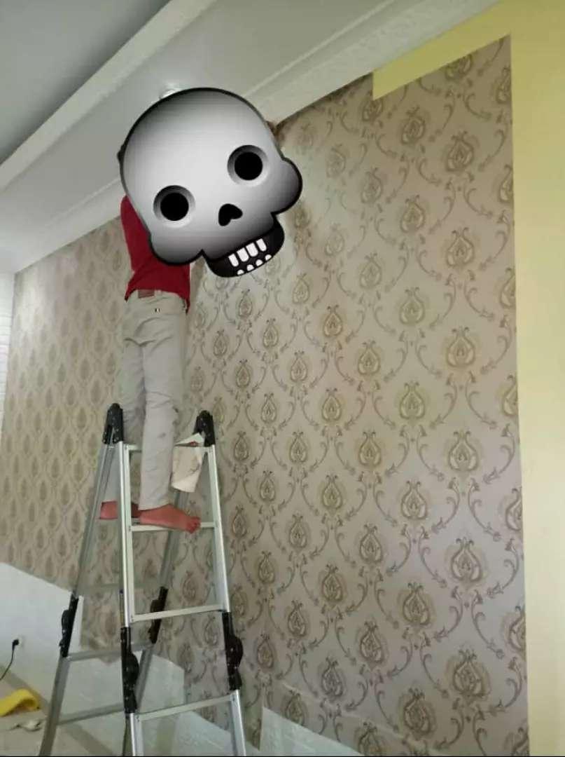 Wallpaper dinding interior