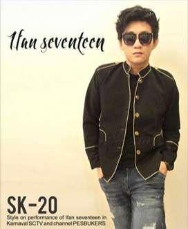 Genji's Black Korean Style Jacket | Jaket Pria Korean Style