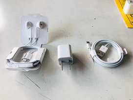 Apple i-phone X Original Charger cable & Earphone & Adaptar