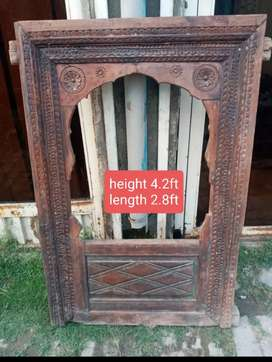 Antique window for sale. Beautifully hand carving. Price  15000.