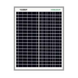 Loom Solar Panel 20 watt - 12 volt for Small Bat  tery Charging
