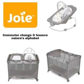 Joie Commuter Change and Bounce Box Bayi Tempat Tidur - Nature Alphabe