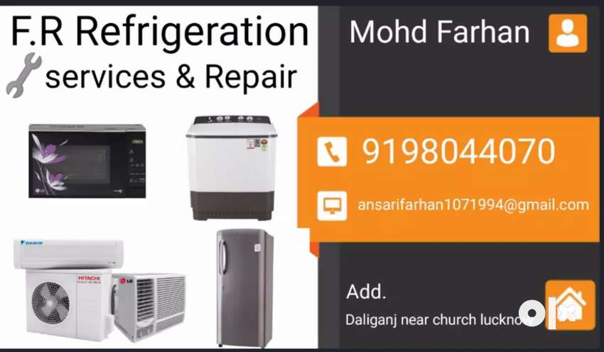 F.R refrigeration All Home Appliances services & repairs .