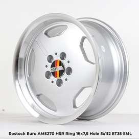 jual velg rostock euro hsr ring 16 lebar 75 untuk mercy