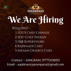 F&B service and Kitchen Chefs