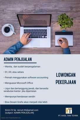Lowongan Pekerjaan Admin Penjualan
