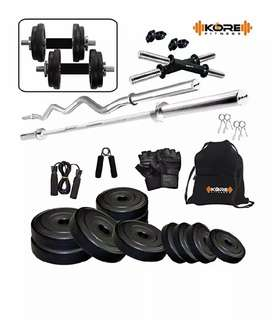 20kg home gym combo (with barbell+curl bar)