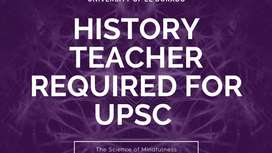 History teacher required for UPSC EXAM