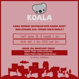 Antar jemput driver perempuan bersama Koala (Komunitas Ojek Akhwat )