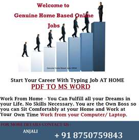 Do Online Half Time Typing Job (Work From Home) -- Financial Freedom