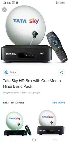 Tata sky hd 1year Airtel Dth Videocon d2h