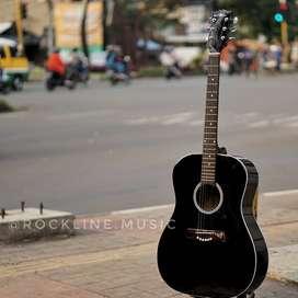 Gitar Akustik black glosy pabrikan