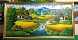 Lukisan pemandangan panen 2*1meter