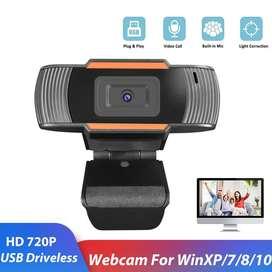 HD Webcam Desktop Laptop with Microphone Video Conference 720P USB Cam