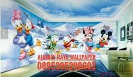 Wallpaper dinding 3d seri anak walldisney