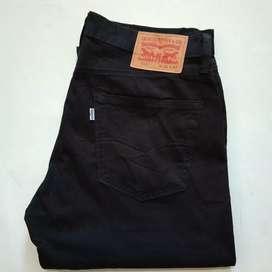 Jual celana katun original hitam merk Levi's511 no33/Lp91/Pj106/Lb18