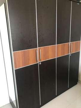 Nilkamal two toned 4 door wardrobe/ cupboard