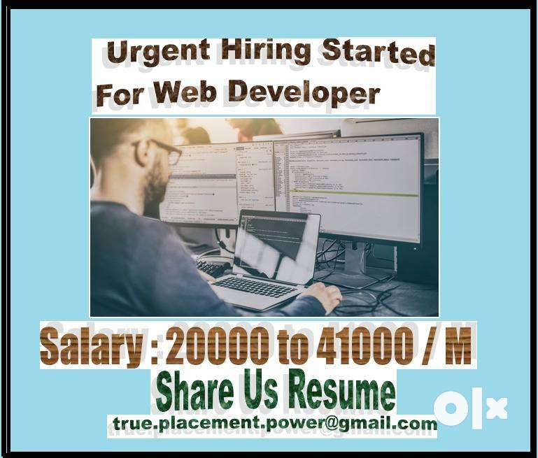 Web Developer Hiring Started  Direct interview 2 Years Exp Required 0