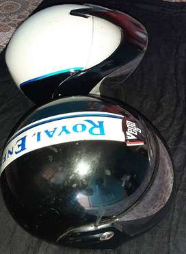 Royal enfiled Silencer box, handle bar and helmets